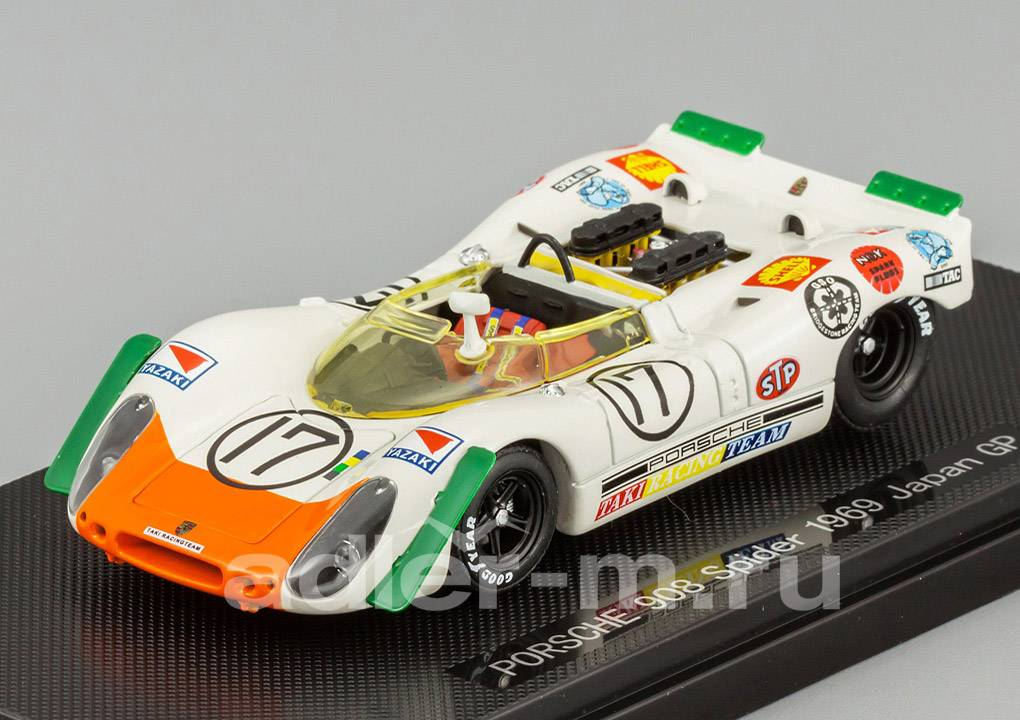 EBBRO 1:43 Porsche 908 Spider 1969 Japan GP 728