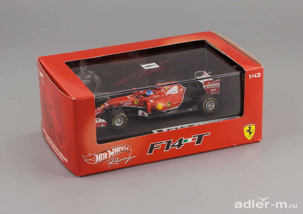 HOT WHEELS 1:43 Ferrari F1 2014 F14 T #14 Alonso, with driver BLY69