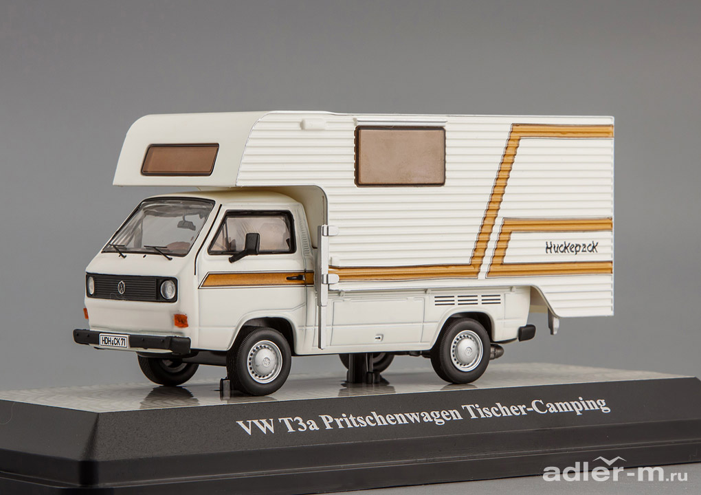 "PREMIUM CLASSIXXS 1:43 Volkswagen T3-a extended cab/ Camping ""Tischer"" (white) PrCl11528"