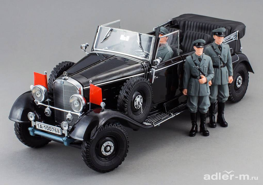 SIGNATURE 1:18 Mercedes-Benz G4 1938 с фигурками (black) PM-38202-3