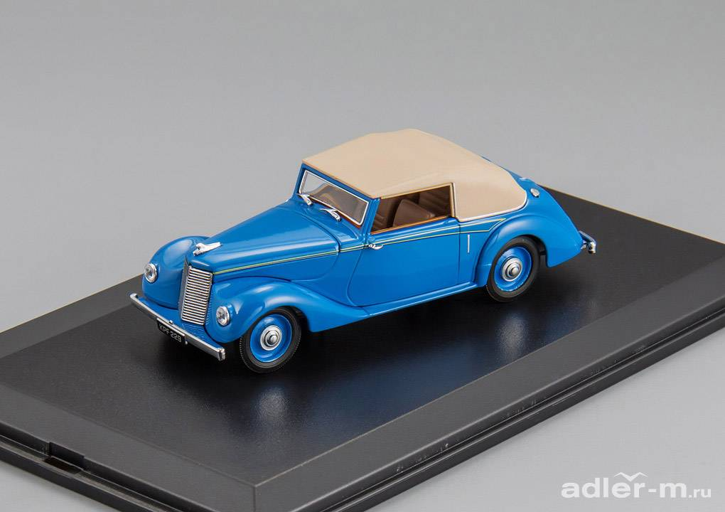 OXFORD 1:43 Armstrong Siddeley Hurricane (кабриолет c тентом) 1945 (bluebird blue) ASH005