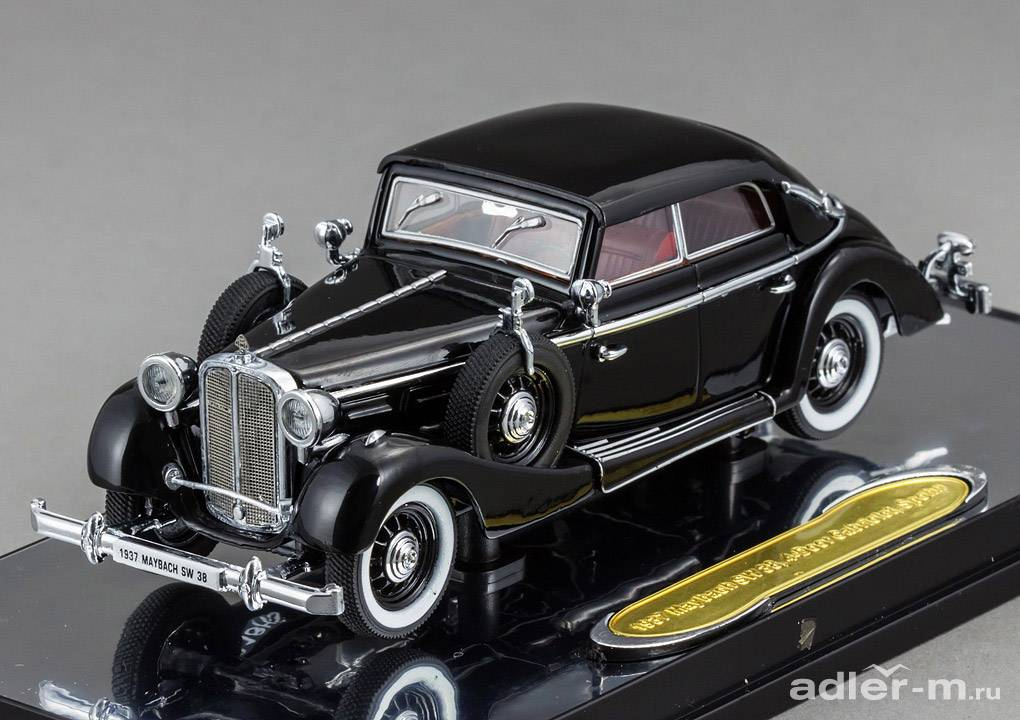 SIGNATURE 1:43 Maybach SW38 1937 4-door cabriolet (black) PM-43703-1