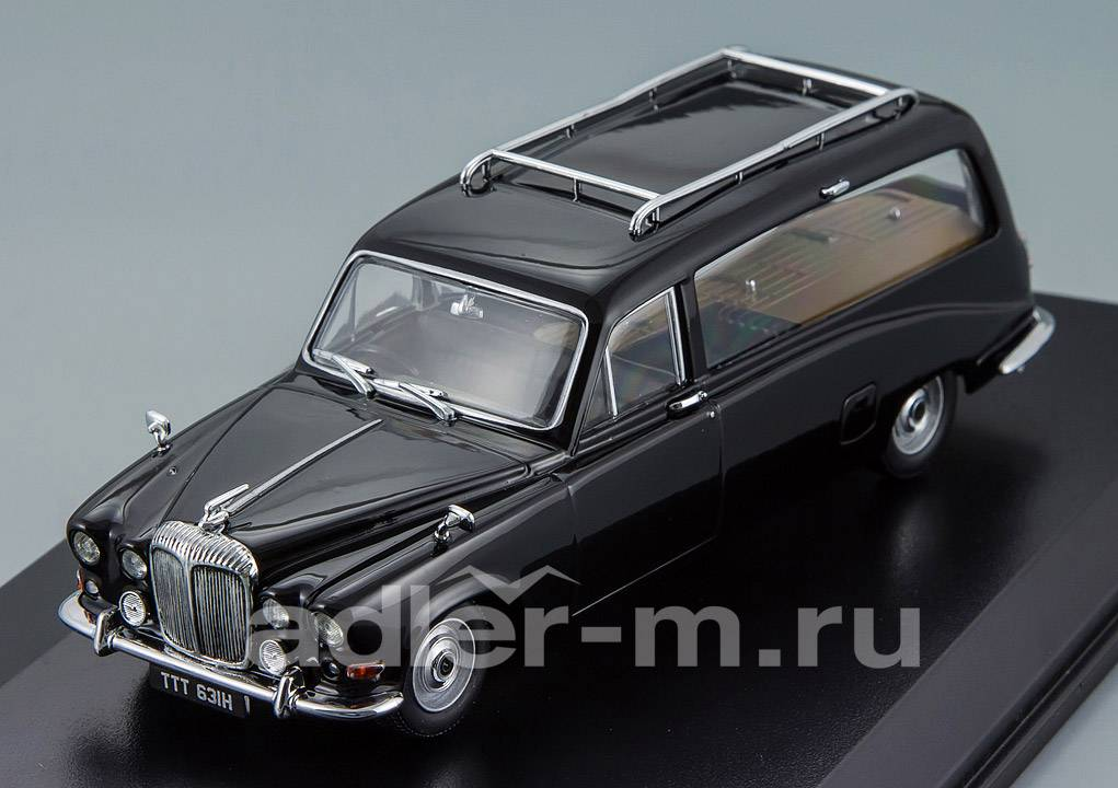 OXFORD 1:43 Daimler DS420 Hearse (black) DS002