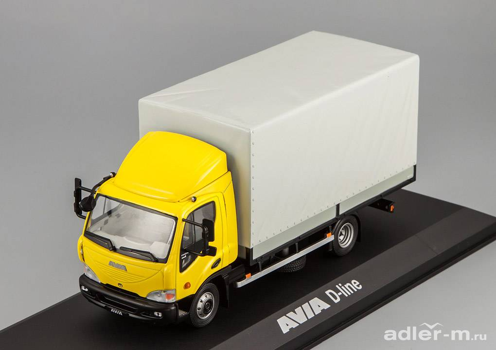 FOXTOYS 1:43 Avia D-line with spoiler (yellow cabine) FOXT004